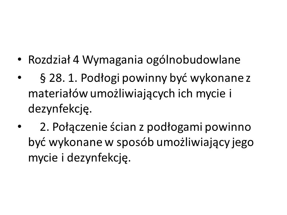 Rozdział 4 Wymagania ogólnobudowlane § 28.1.