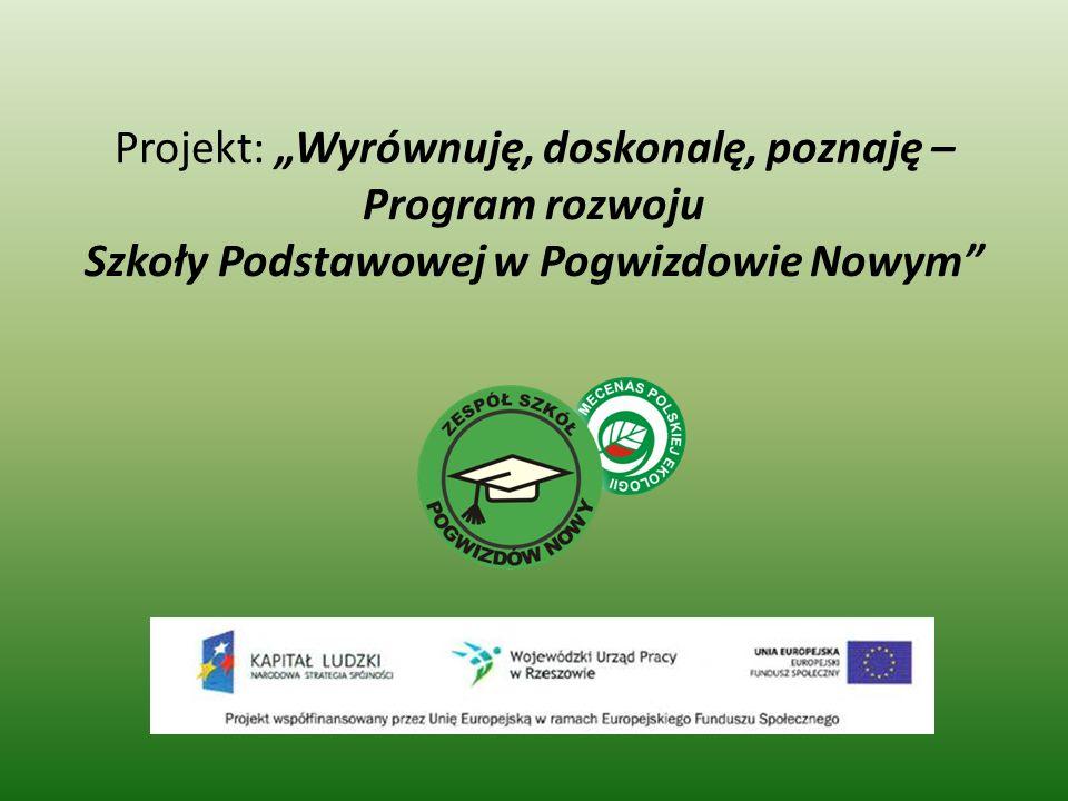 Projekt: Wyrównuję, doskonalę, poznaję – Program rozwoju Szkoły Podstawowej w Pogwizdowie Nowym