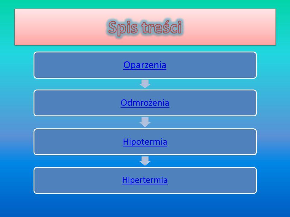 Oparzenia Odmrożenia Hipotermia Hipertermia