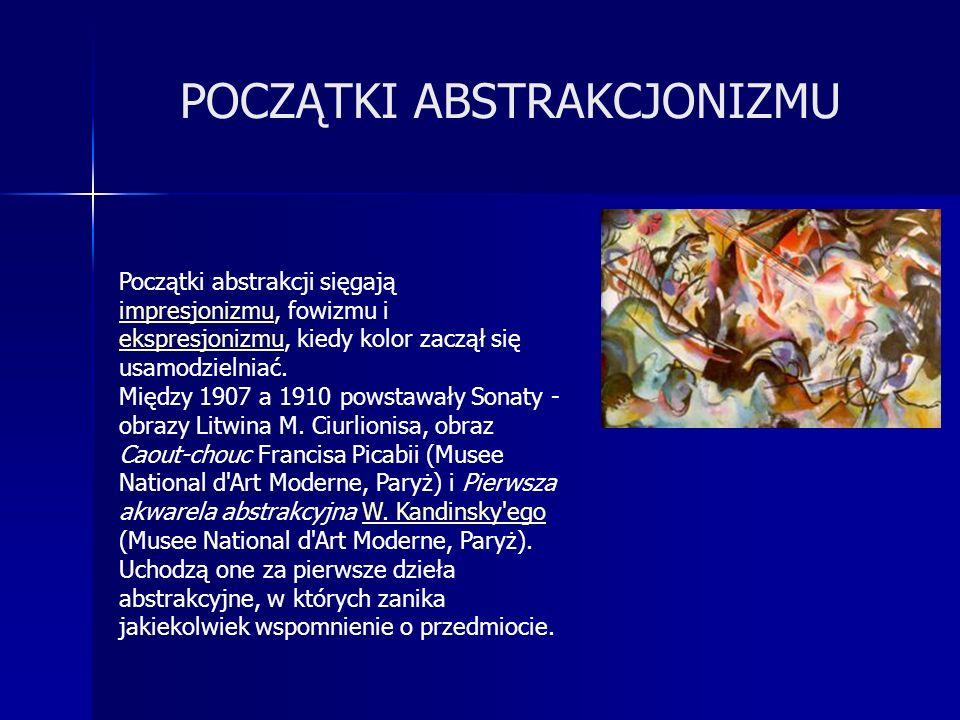Ewolucja rzeźby ku sztuce abstrakcyjnej dokonywała się na podłożu idei konstruktywizmu ( C.