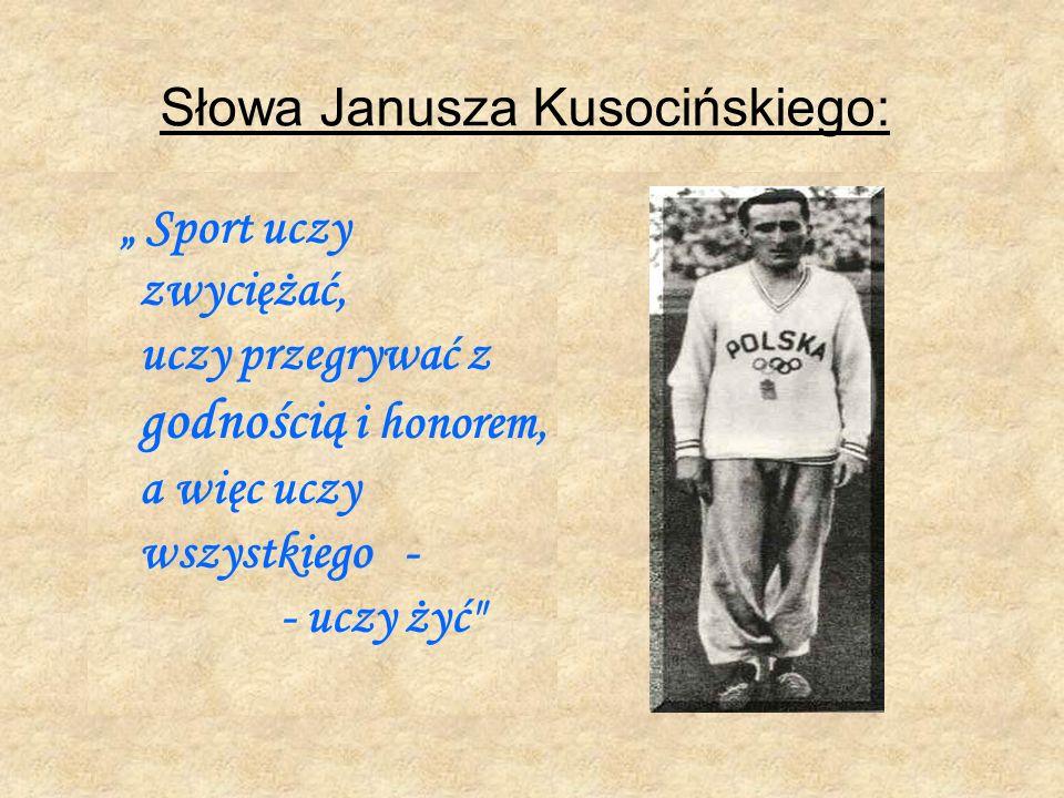 Janusz Kusociński – patron Zespołu Szkół Ogólnokształcących Sportowych nr 1 w Krakowie, os. Handlowe 4 Być jak Kusy życie szkoła sport okupacja
