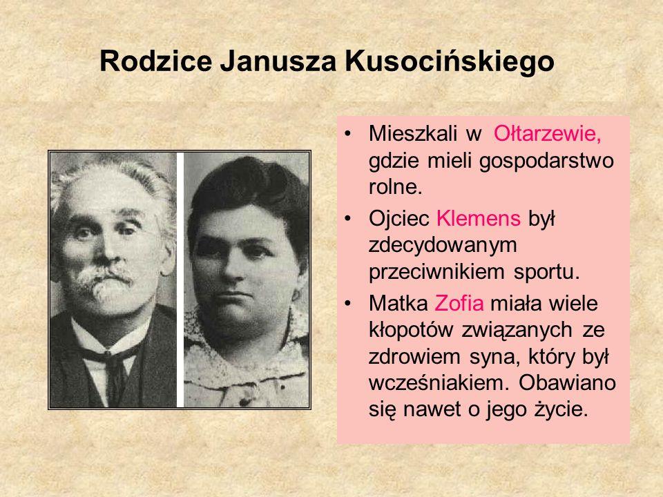 Słowa Janusza Kusocińskiego: Sport uczy zwyciężać, uczy przegrywać z godnością i honorem, a więc uczy wszystkiego - - uczy żyć