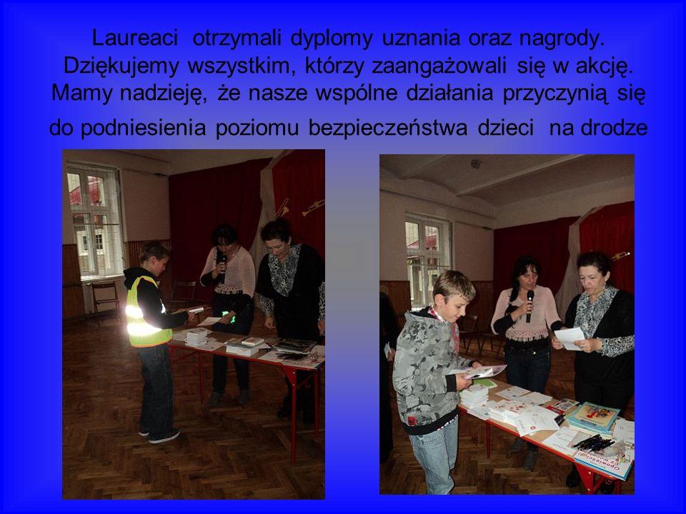 Laureaci otrzymali dyplomy uznania oraz nagrody.