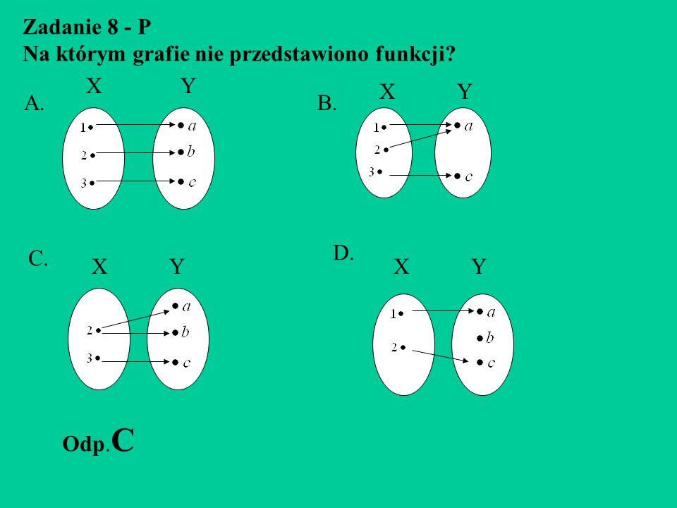 Zadanie 7 - P W którym przedziale jest liczba spełniająca to równanie: (3x-2) 2 +4x=9x 2 -4 ? A.B. C. 0 1 X 0 1 X 2 1 2 X 0 1 2 X Odp. A