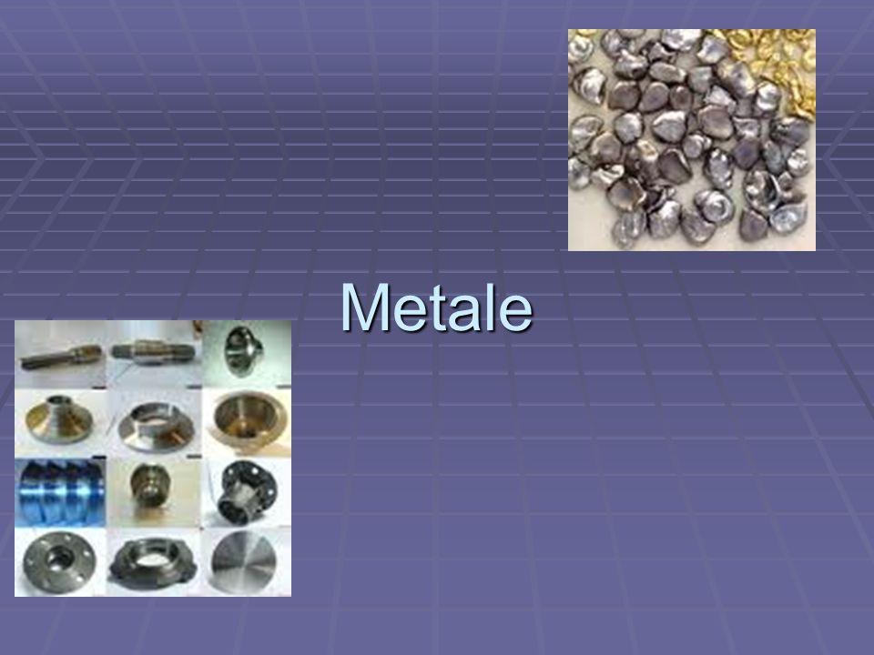 Metale Metalami nazywamy grupę pierwiastków chemicznych o określonych i charakterystycznych właściwościach, które sprawiły że od dawna ludzie interesowali się nimi jako materiałami konstrukcyjnymi.