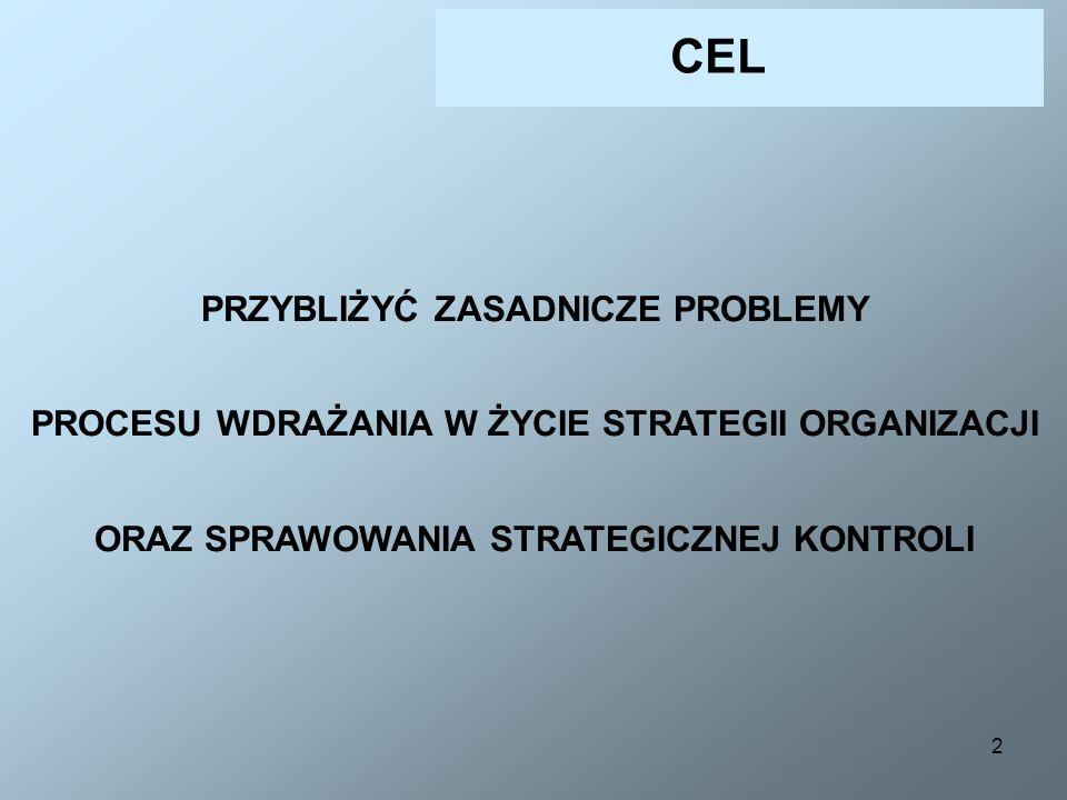 13 ETAP IV FAZA 5 WDRAŻANIE I REALIZACJA STRATEGII Doprowadzenie założeń przyjętej strategii do postaci programów działania Opracowanie programów strategicznych (węzłowych) Opracowanie strategicznego planu firmy WDRAŻANIE STRATEGII...