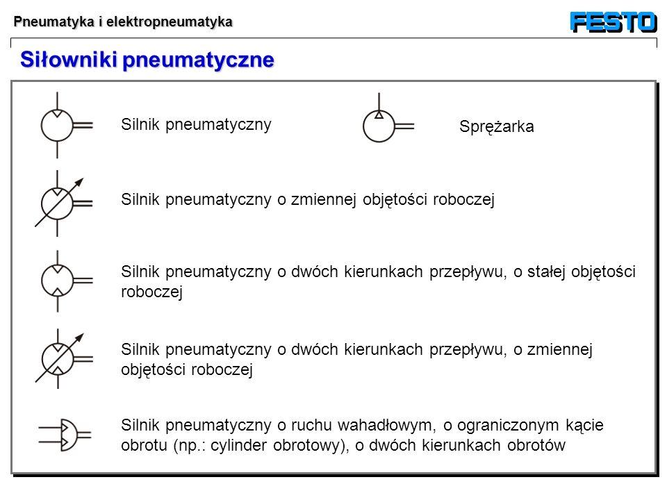 Pneumatyka i elektropneumatyka Siłowniki pneumatyczne Silnik pneumatyczny Silnik pneumatyczny o zmiennej objętości roboczej Silnik pneumatyczny o dwóc