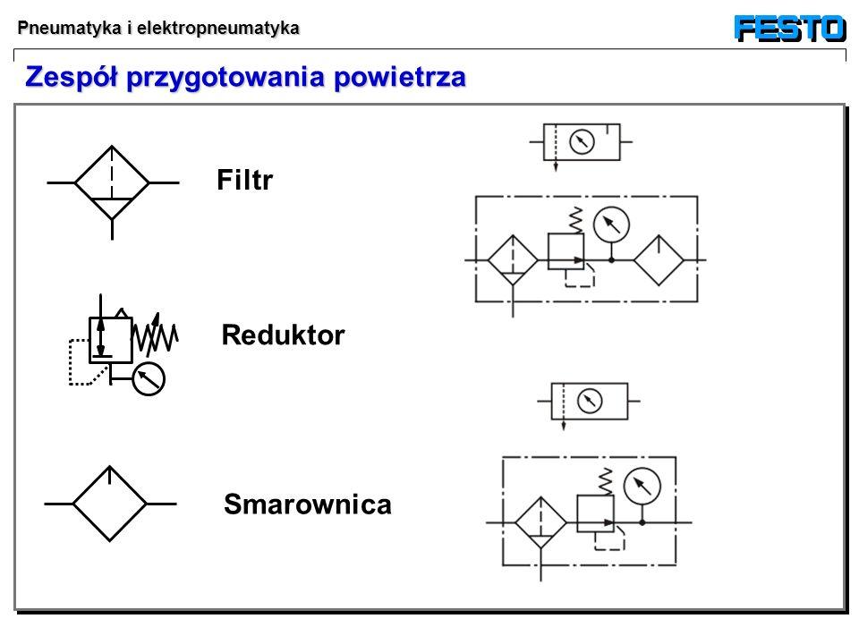 Pneumatyka i elektropneumatyka Filtr Reduktor Smarownica Zespół przygotowania powietrza