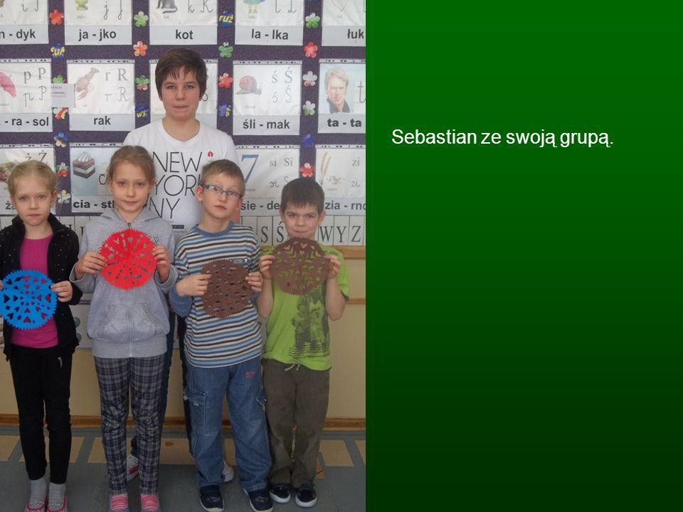 Sebastian ze swoją grupą.