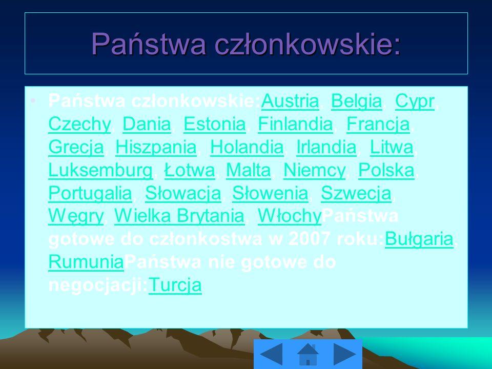 Państwa członkowskie: Państwa członkowskie:Austria, Belgia, Cypr, Czechy, Dania, Estonia, Finlandia, Francja, Grecja, Hiszpania, Holandia, Irlandia, L