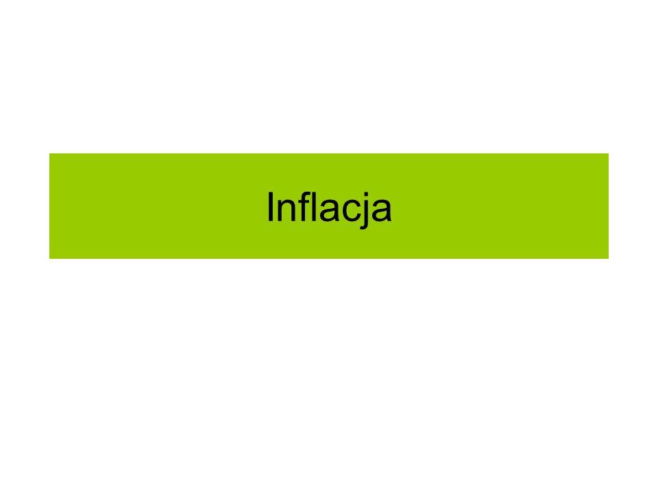 Negatywne skutki inflacji (przy nieprzewidzianej inflacji): Tracą wszyscy bo ceny przestają wykonywać swą funkcję informacyjną.