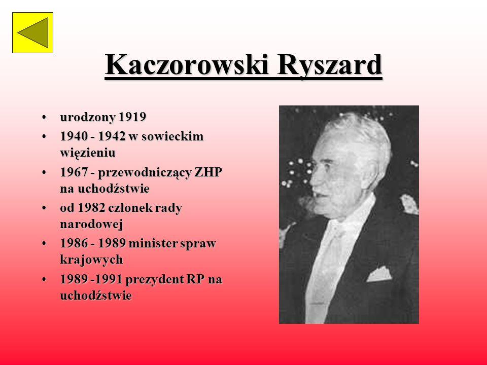Sabbat Kazimierz żyłżył w latach 1913 - 1989 ukończyłukończył gimnazjum w Mielcu tużtuż przed wojną ukończył w Warszawie wydział prawa zostałzostał premierem rządu polskiego na uchodztwie w1986 został prezydentem