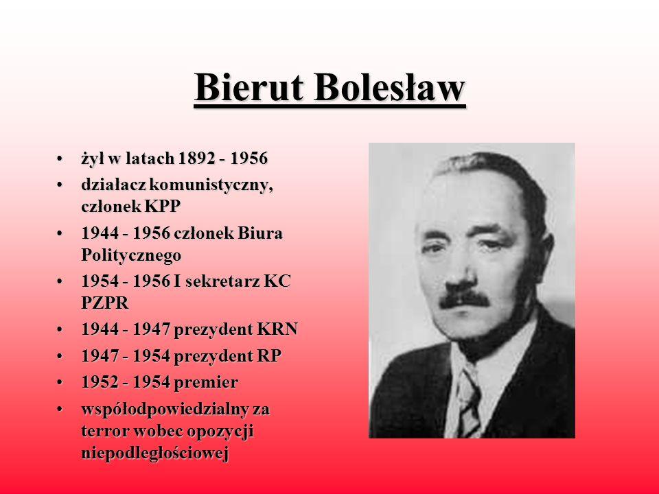 Kaczorowski Ryszard urodzonyurodzony 1919 19401940 - 1942 w sowieckim więzieniu 19671967 - przewodniczący ZHP na uchodźstwie odod 1982 członek rady narodowej 19861986 - 1989 minister spraw krajowych 19891989 -1991 prezydent RP na uchodźstwie