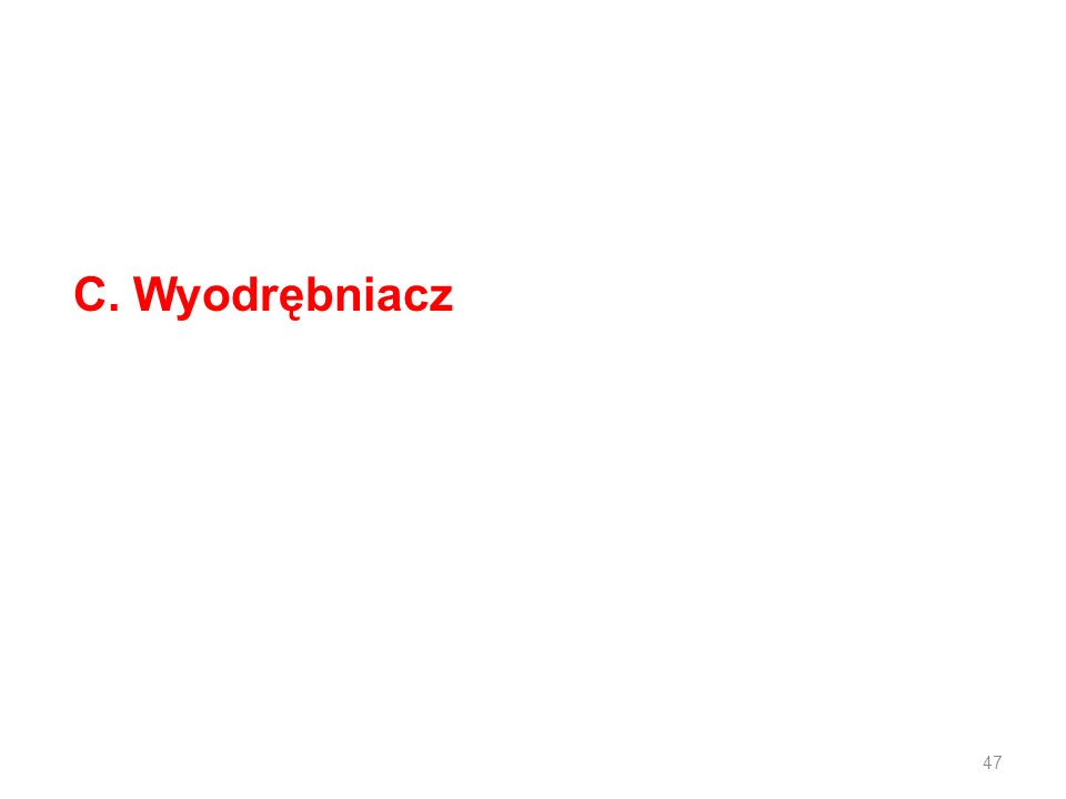 C. Wyodrębniacz 47