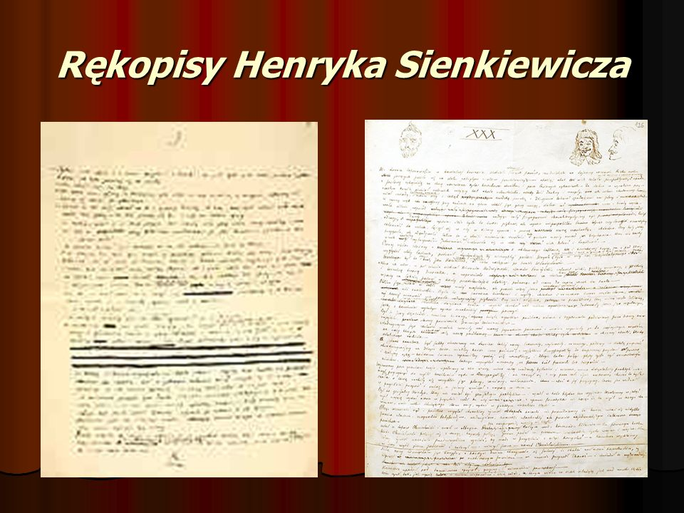 Rękopisy Henryka Sienkiewicza