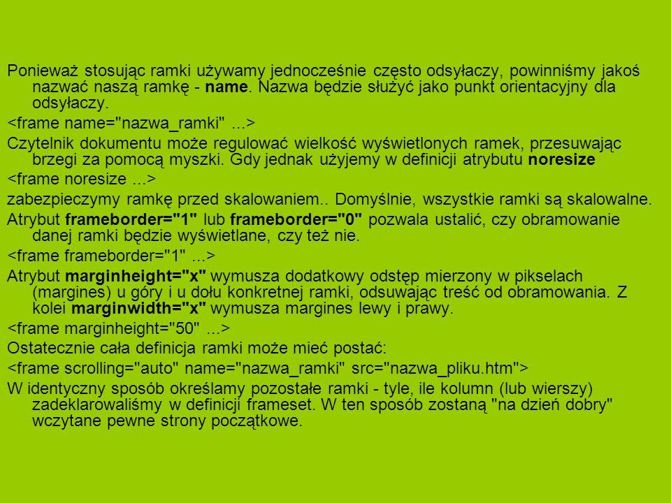 Tworzymy menu.html Moja Strona >