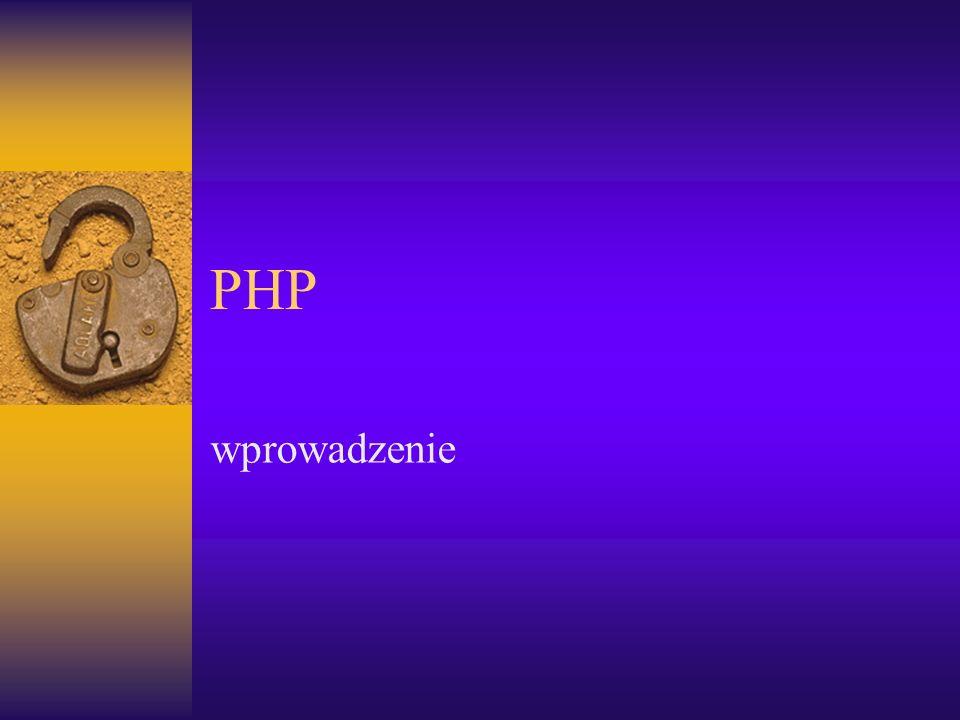 PHP wprowadzenie