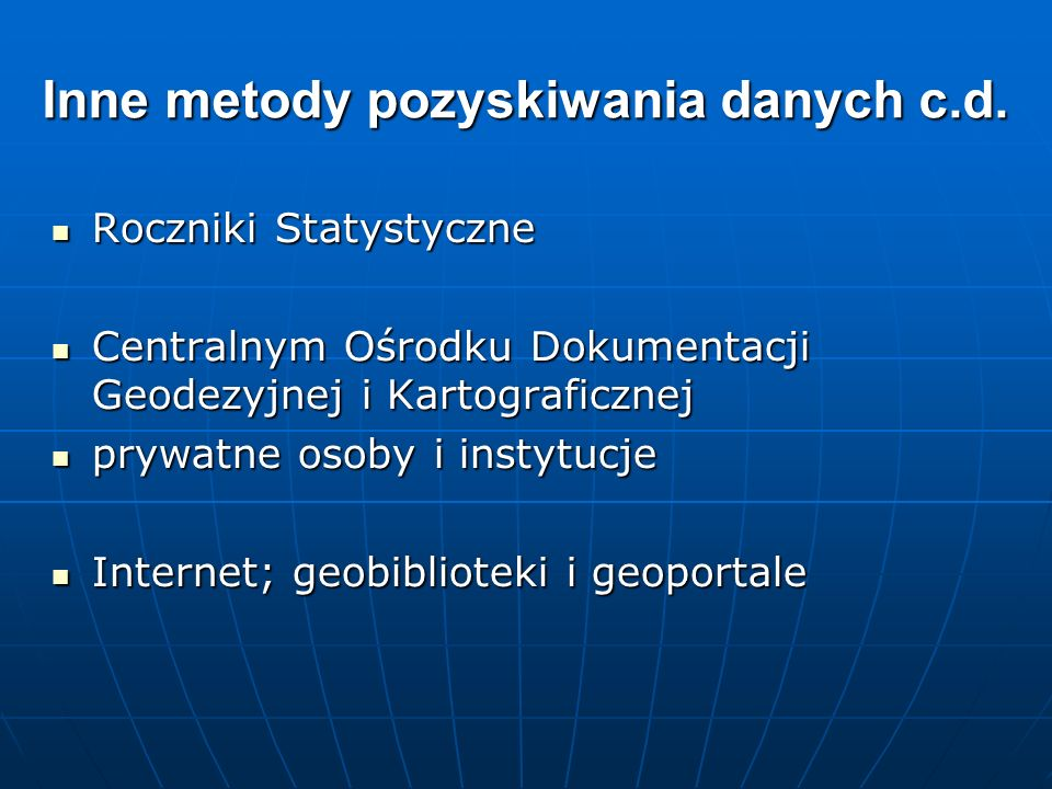 Roczniki Statystyczne Roczniki Statystyczne Centralnym Ośrodku Dokumentacji Geodezyjnej i Kartograficznej Centralnym Ośrodku Dokumentacji Geodezyjnej