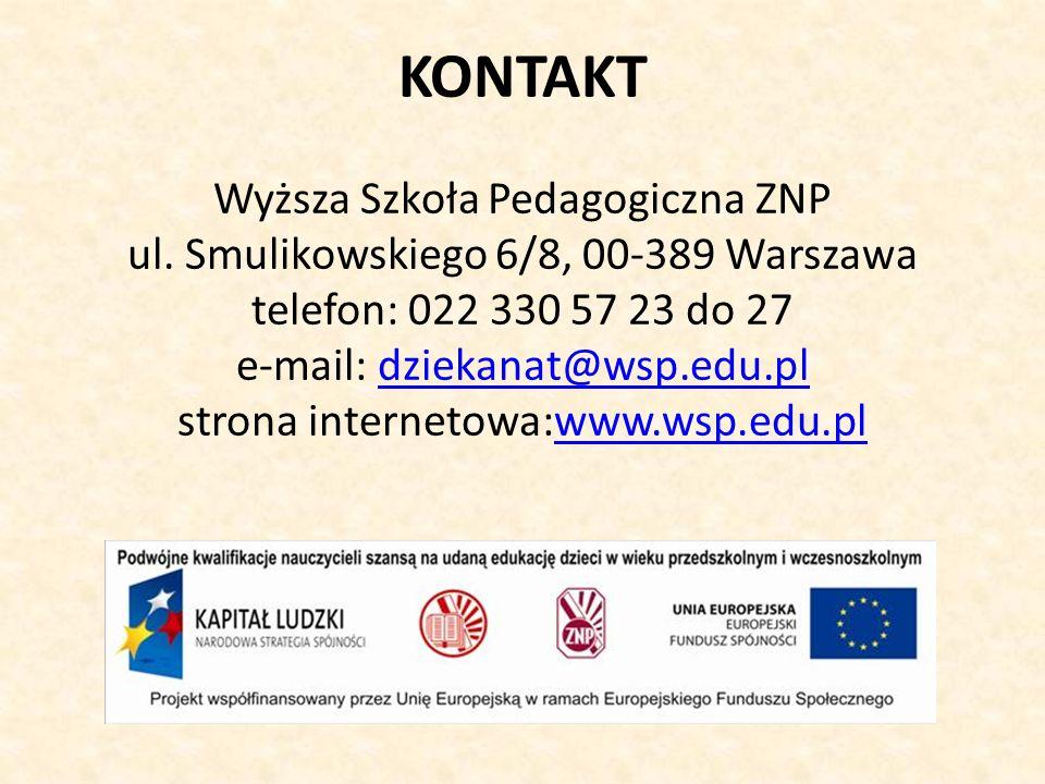 KONTAKT Wyższa Szkoła Pedagogiczna ZNP ul.