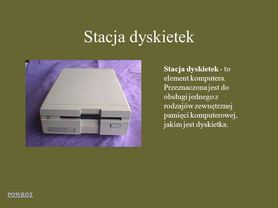 Stacja dyskietek Stacja dyskietek - to element komputera.