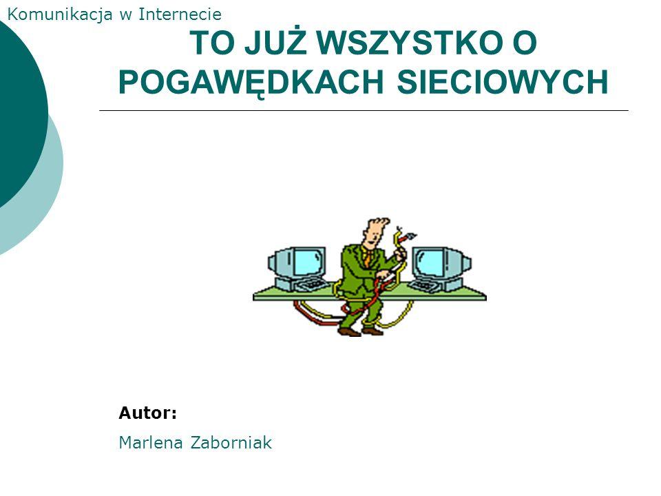 Komunikacja w Internecie Netykieta Netykieta jest zbiorem praw obowiązujących na IRCu. 1. nie piszemy wielkimi literami (oznaczają krzyk) 2. nie flood