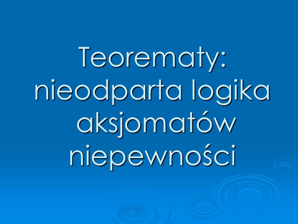 Teorematy: nieodparta logika aksjomatów aksjomatówniepewności