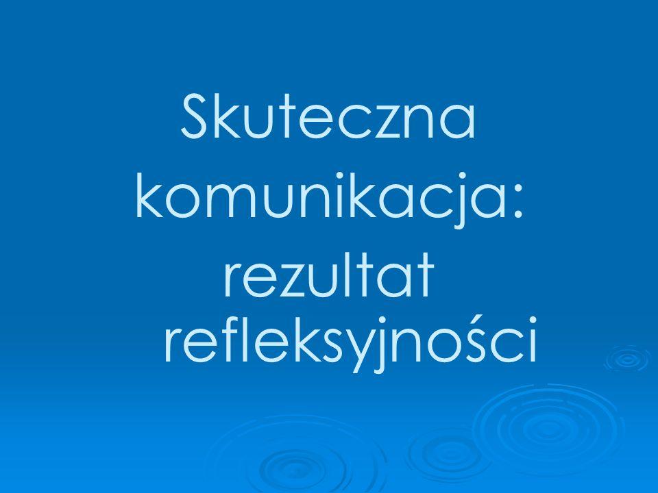 Skuteczna komunikacja: rezultat refleksyjności