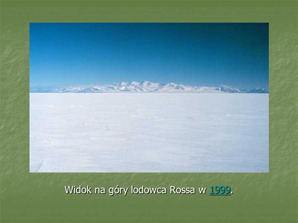 Widok na góry lodowca Rossa w 1999. 1999