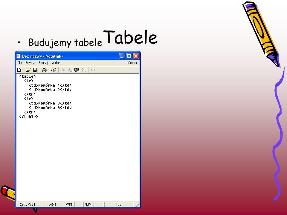 Tabele Budujemy tabele