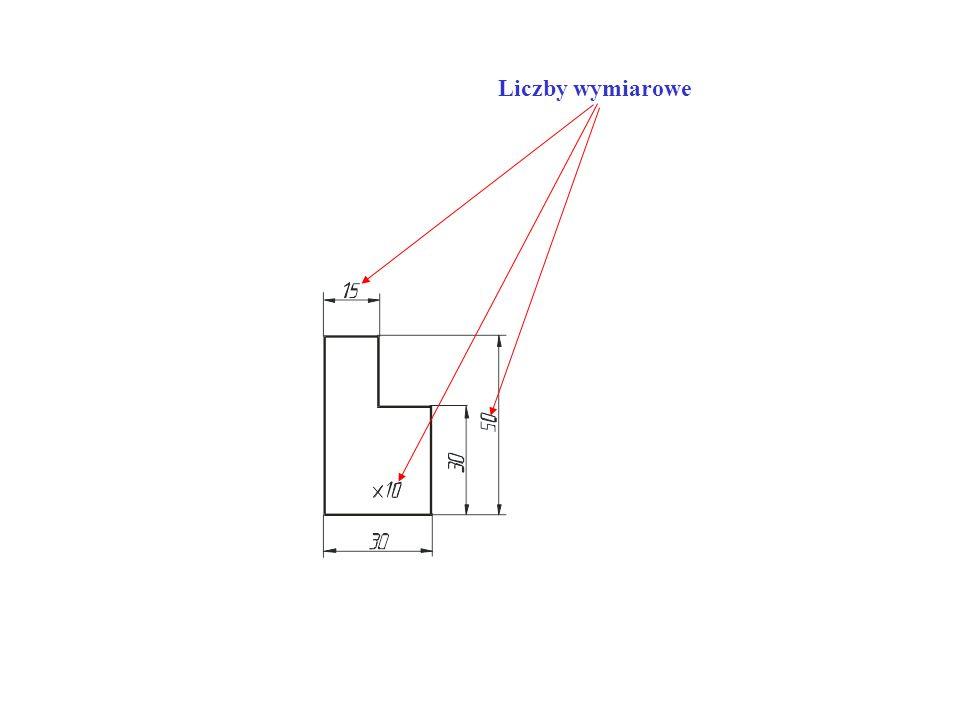 - średnice otworów do 10 mm podaje się na zewnątrz otworu (strzałki skierowane do środka otworu), a powyżej 10 mm wewnątrz otworu (strzałki skierowane na zewnątrz środka otworu),