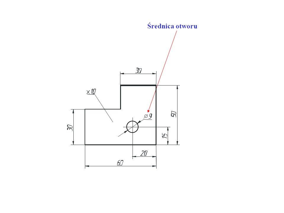 - grubość przedmiotu podaje się literą x, promień R, a średnicę o (fi)