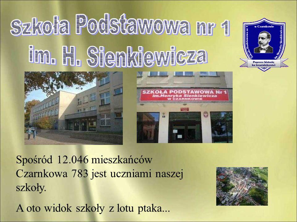 Spośród 12.046 mieszkańców Czarnkowa 783 jest uczniami naszej szkoły. A oto widok szkoły z lotu ptaka...