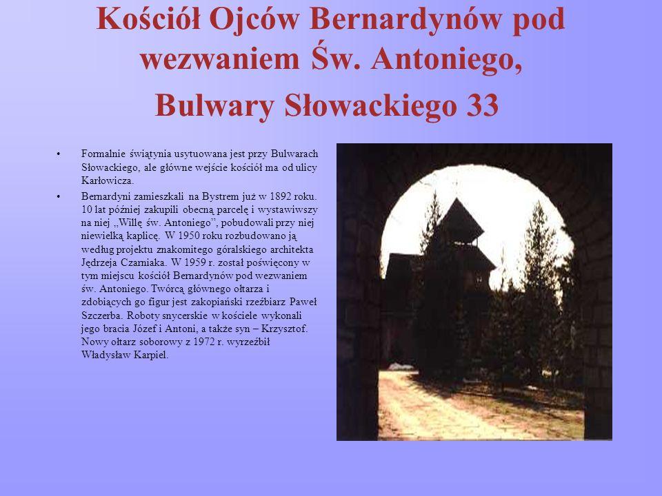 Kościół p.w. Miłosierdzia Bożego na Chramcówkach Nowoczesny gmach wg projektu Janusza Ingardena wybudowano w l. 1988-94 i poświęcono 24 września 1994.