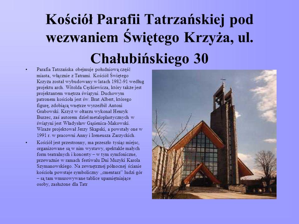 Kościół Ojców Bernardynów pod wezwaniem Św. Antoniego, Bulwary Słowackiego 33 Formalnie świątynia usytuowana jest przy Bulwarach Słowackiego, ale głów