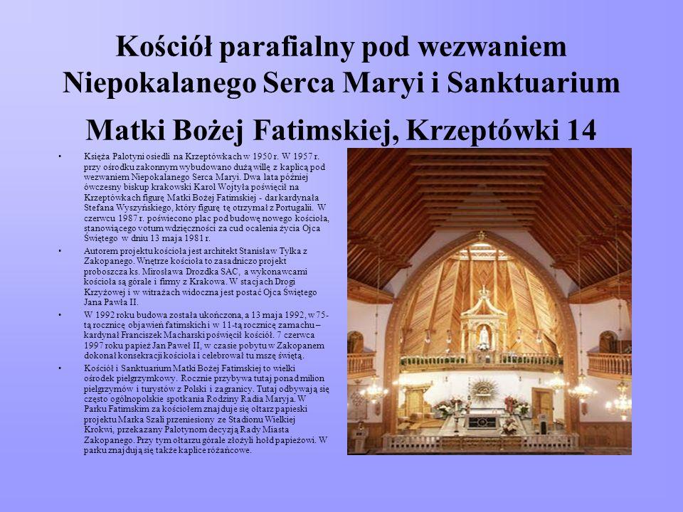 Kościół parafialny pod wezwaniem Niepokalanego Serca Maryi i Sanktuarium Matki Bożej Fatimskiej, Krzeptówki 14 Księża Palotyni osiedli na Krzeptówkach w 1950 r.