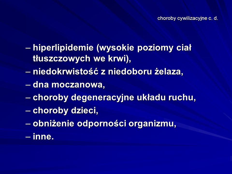 choroby cywilizacyjne c.d.