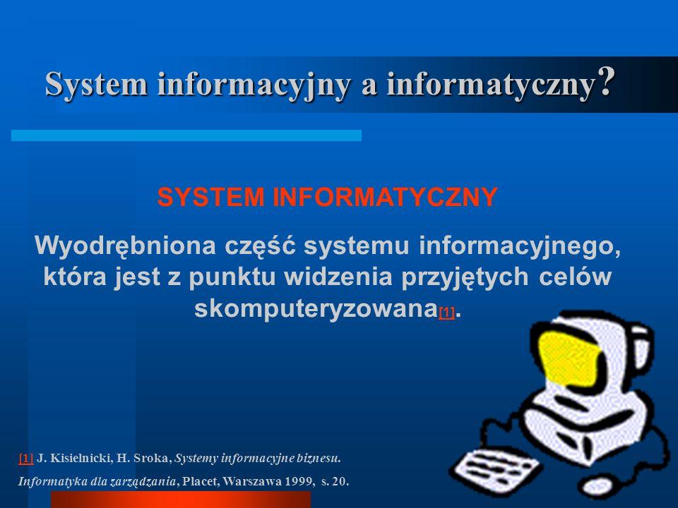 SYSTEM INFORMACYJNY Wymagania 1] : 1] Dostępność Aktualność Rzetelność KompletnośćPorównywalność NiezawodnośćPrzetwarzalność ElastycznośćWydajność Eko