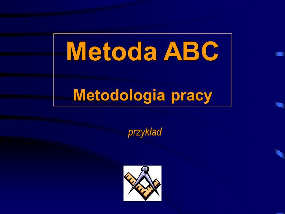 Wyznaczanie macierzy ABC/XYZ ? Metody OiZ – przegląd: Metod ABC