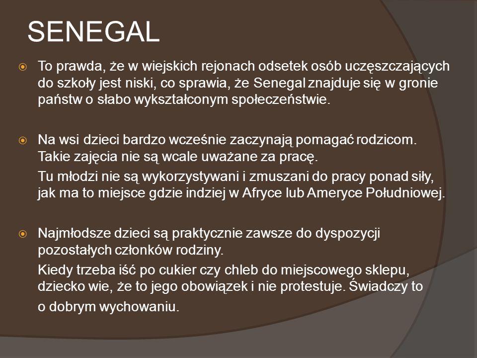 SENEGAL cD.Senegal nie wie, co to domy dziecka.