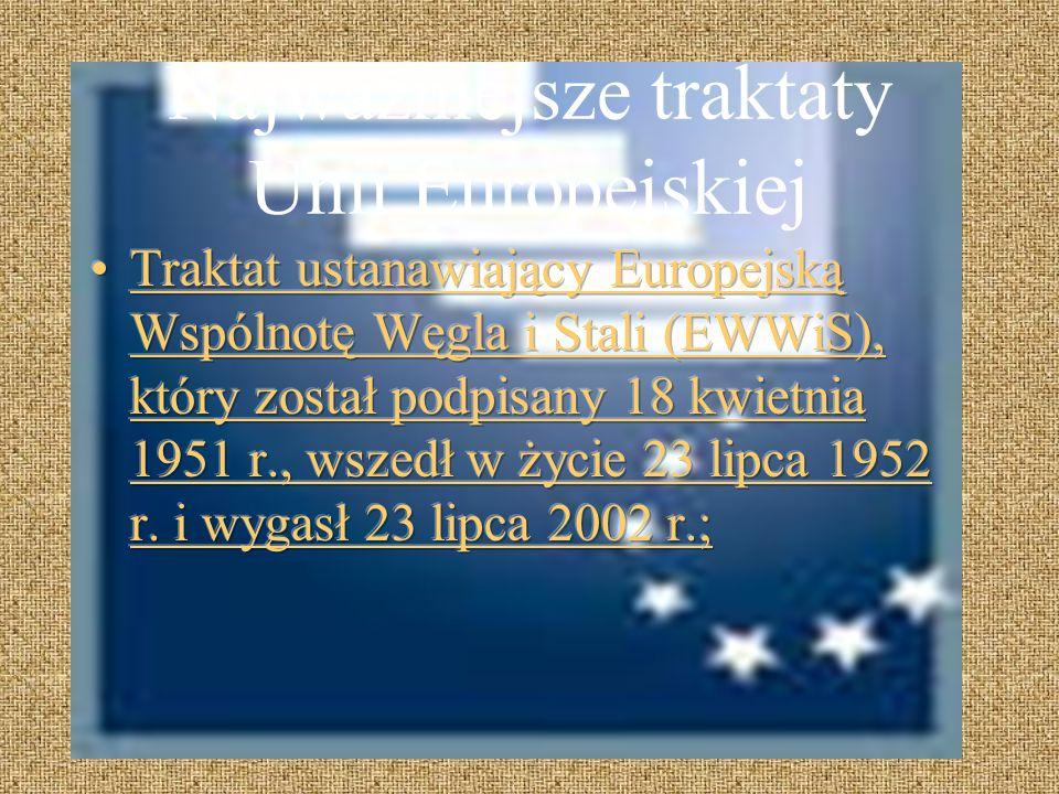 W skład Unii Europejskiej wchodzą państwa - Austria - Hiszpania - Portugalia - Grecja - Belgia - Irlandia - Słowacja - Polska - Cypr - Litwa - Słoweni