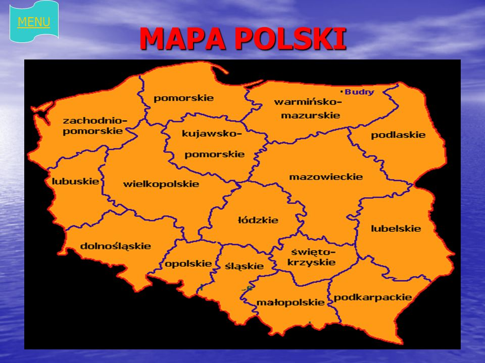 MAPA POLSKI MENU