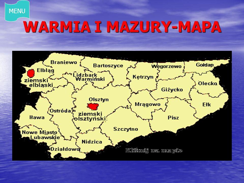 WARMIA I MAZURY-MAPA MENU