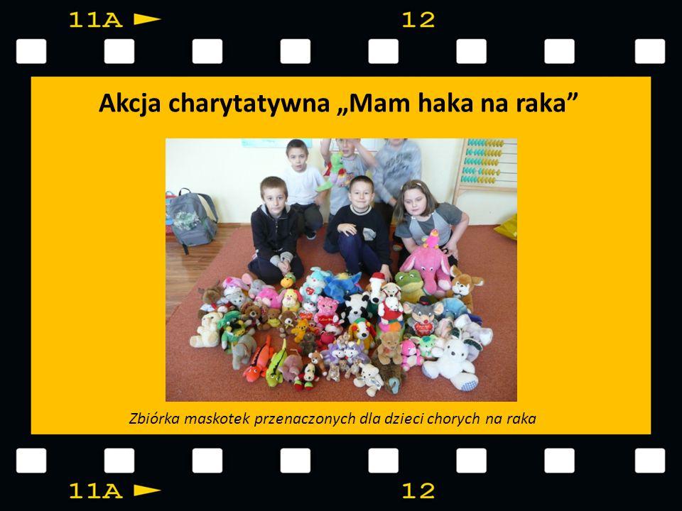 Akcja charytatywna Mam haka na raka Zbiórka maskotek przenaczonych dla dzieci chorych na raka