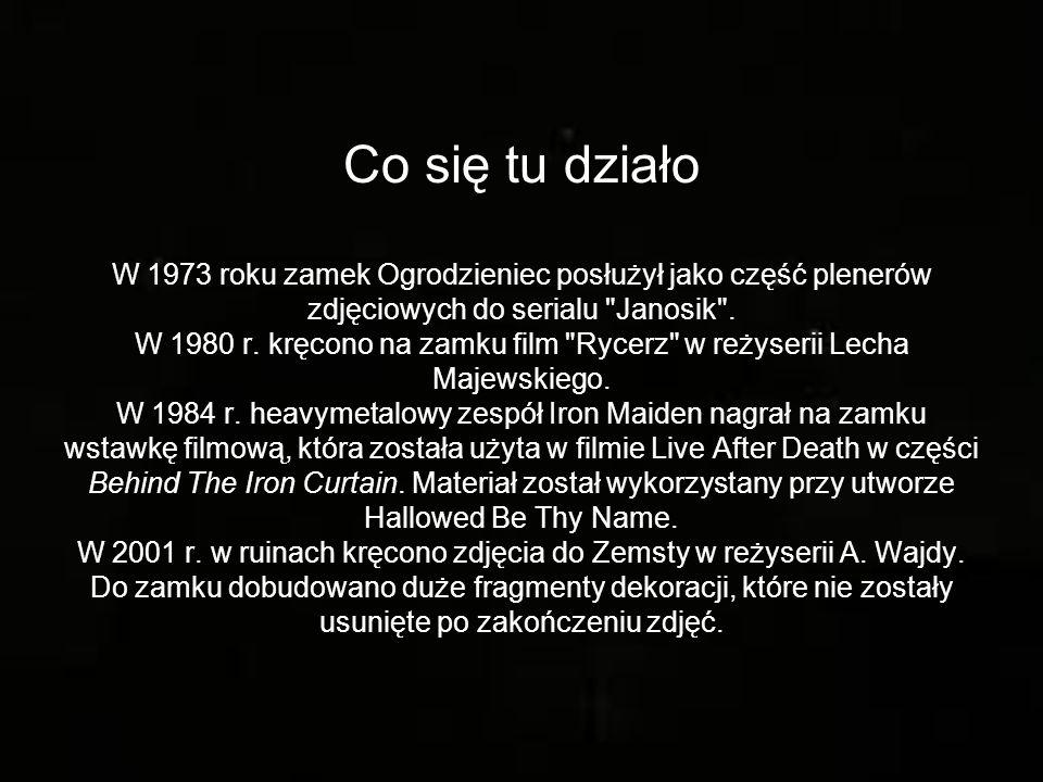 Co się tu działo W 1973 roku zamek Ogrodzieniec posłużył jako część plenerów zdjęciowych do serialu Janosik .