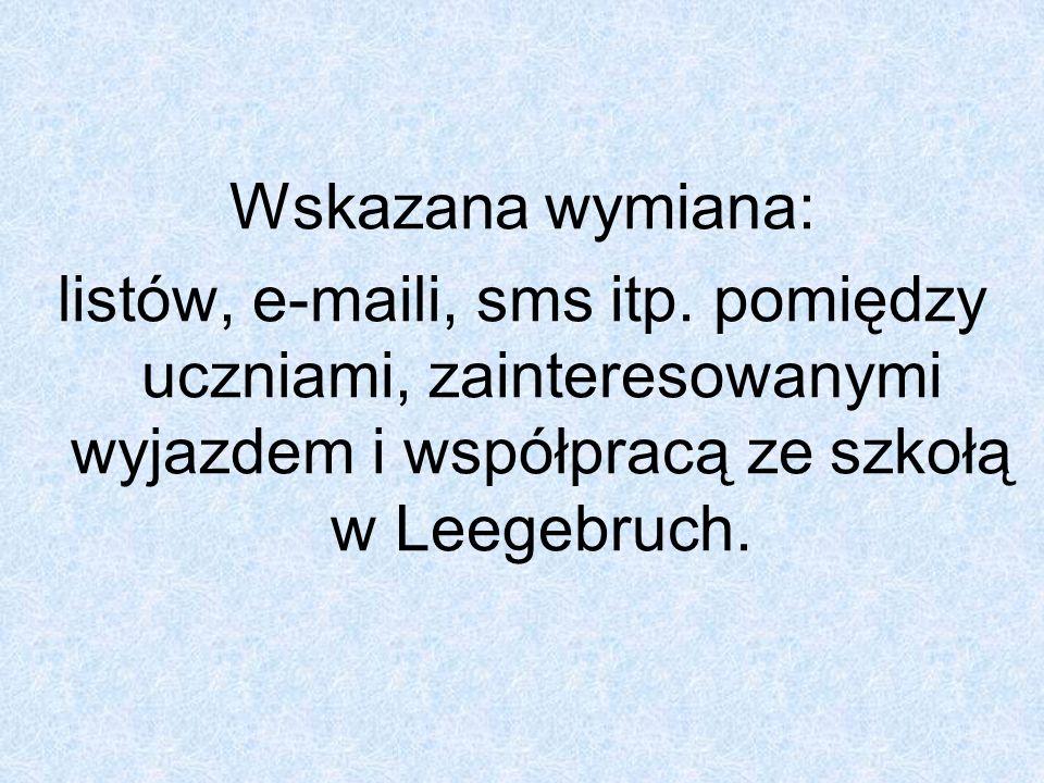 Ramowy pobyt dzieci z Leegebruch w Polsce 11.09.2006r.