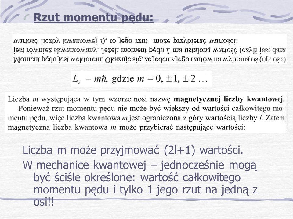 Kwantowanie przestrzenne : Doświadczenie zaprzecza założeniu o dowolnej orientacji wektorów L w zewnętrznym polu magnetycznym.