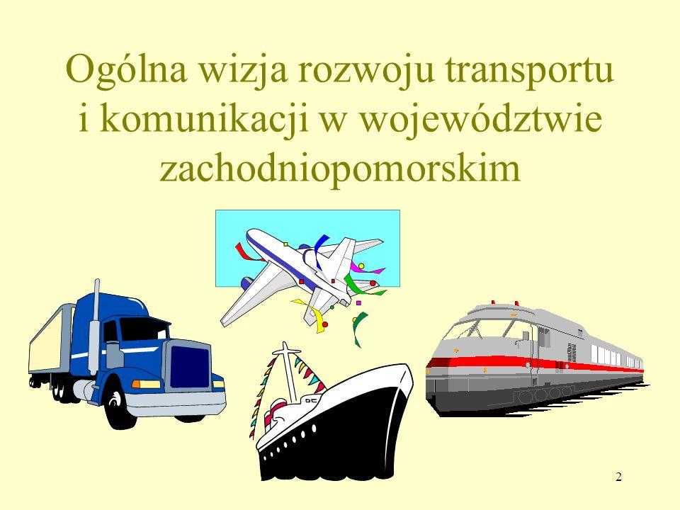 33 WIZJA 2015 Władze regionu zachodniopomorskiego wspierają ogólną politykę państwa a także intensywnie prowadzą, w ramach swoich kompetencji, własną politykę ograniczania negatywnego wpływu transportu na środowisko naturalne i tzw.