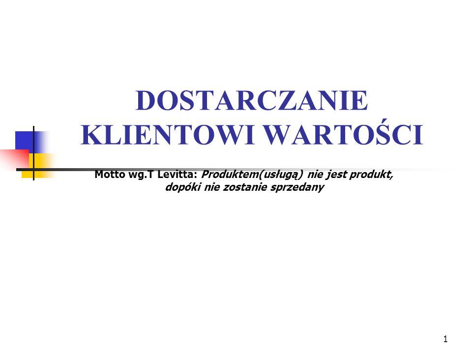2 Literatura: 1.Ph.Kotler: Kotler o marketingu,Wyd.PSB, Kraków 1999 2.Pr.