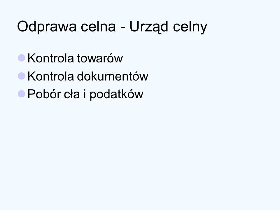 Przeznaczenie celne Objęcie towaru procedurą celną Wprowadzenie towaru do wolnego obszaru celnego lub składu wolnocłowego Zniszczenie towaru Zrzeczenie się towaru na rzecz skarbu państwa Powrotny wywóz towaru poza polski obszar celny