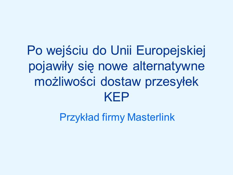 Sytuacja przed wejściem do UE Konieczność wysyłania przesyłek całopojazdowych (w celu obniżki kosztów), co w przypadku małych przesyłek oznaczało: –Konsolidację –Długi czas odprawy celnej (kolejki na granicach) –Niepewność co do terminowości dostawy